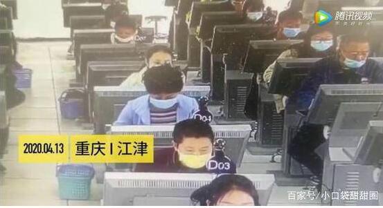 女子考科目一作弊头顶冒蓝光 竟暗藏了高科技作弊系统
